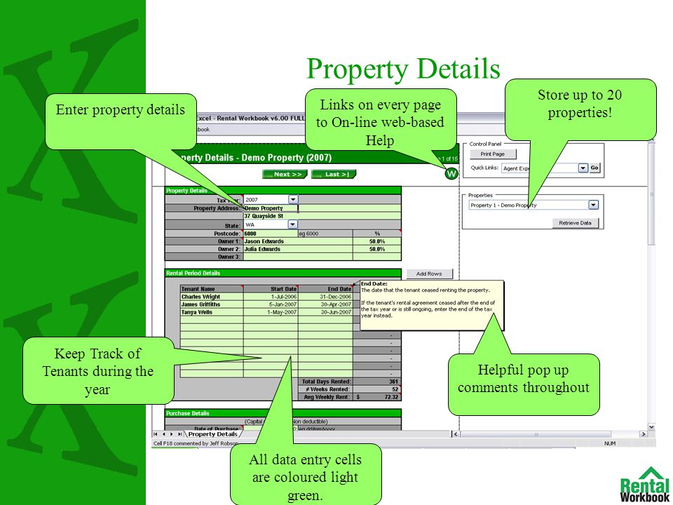 Property Details Enter property details Store up to 20 properties.
