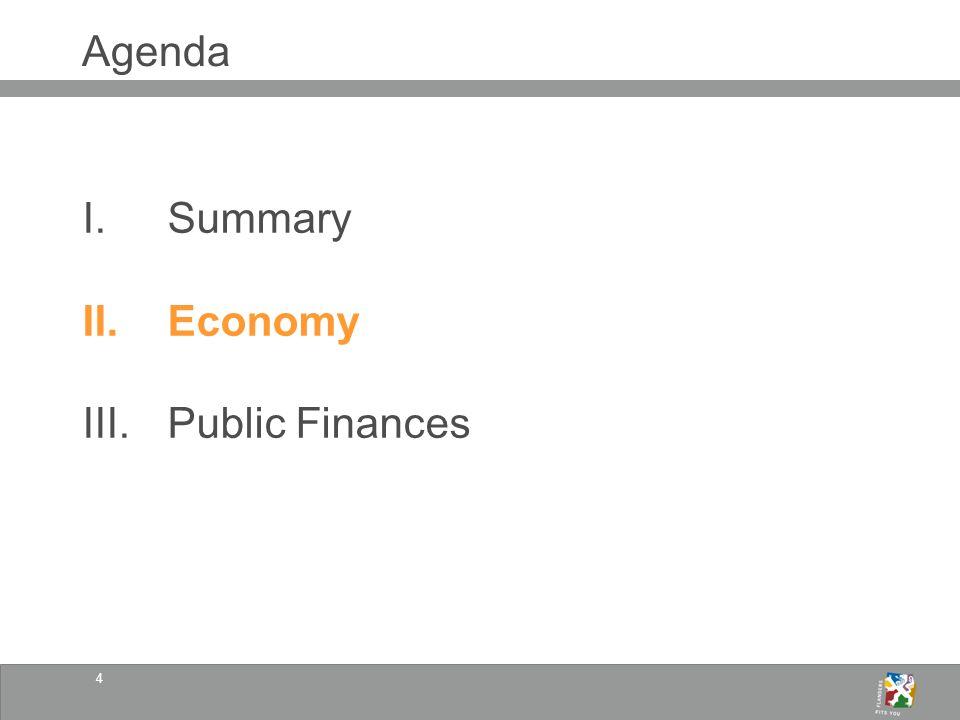 4 Agenda I.Summary II.Economy III.Public Finances