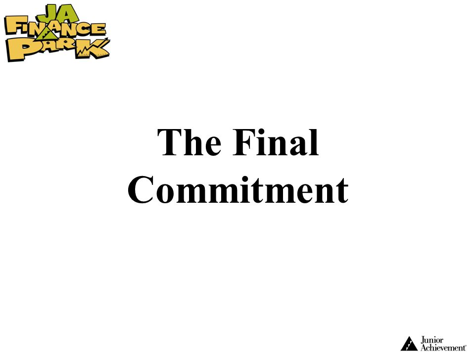 The Final Commitment