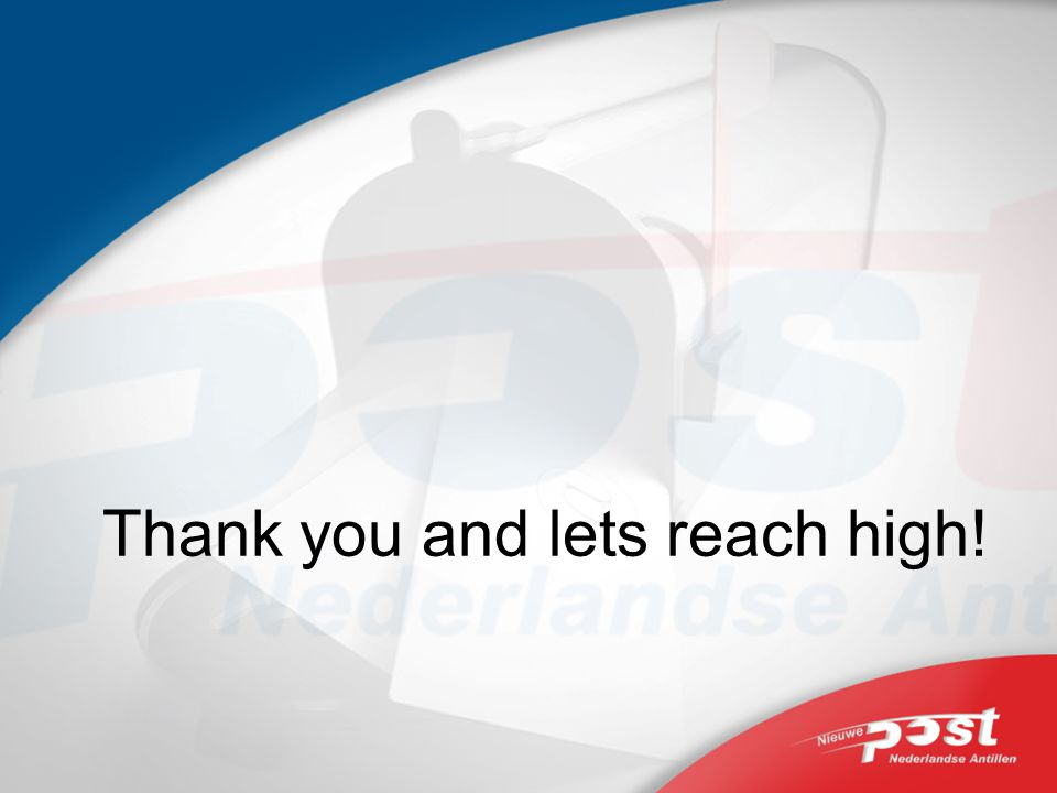 Thank you and lets reach high!