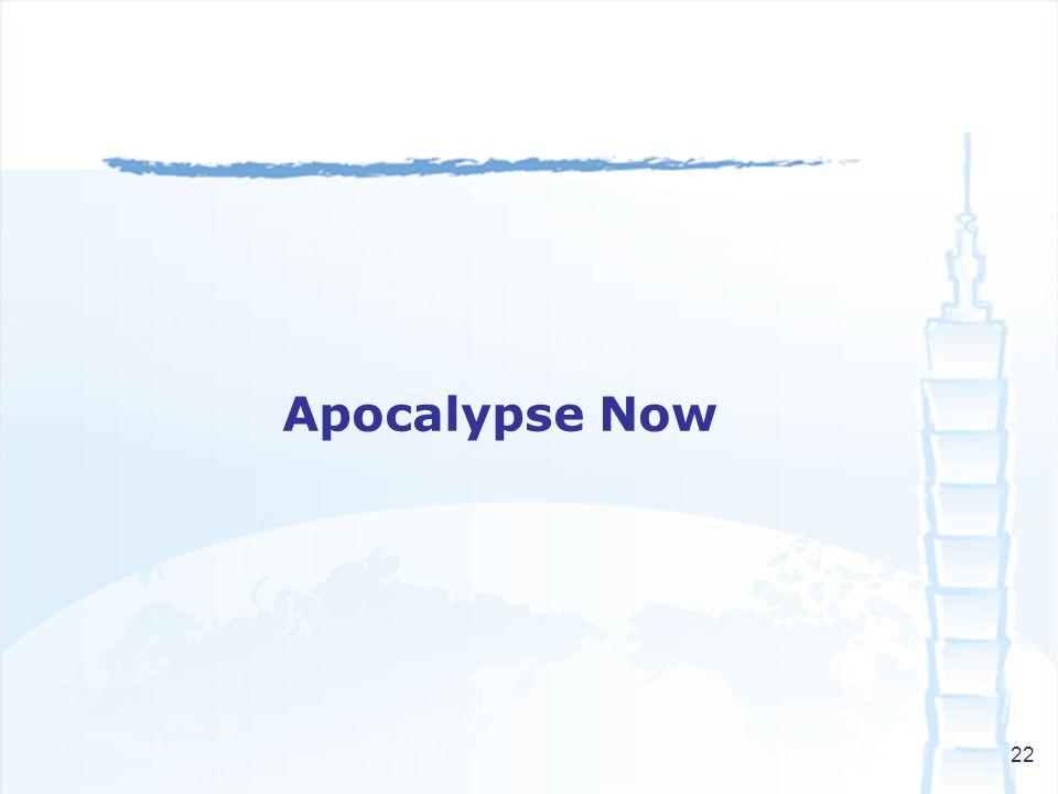 22 Apocalypse Now
