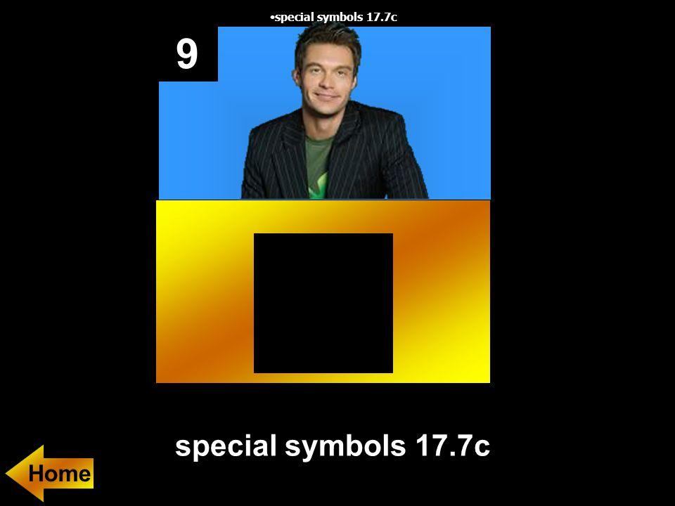 9 special symbols 17.7c special symbols 17.7c