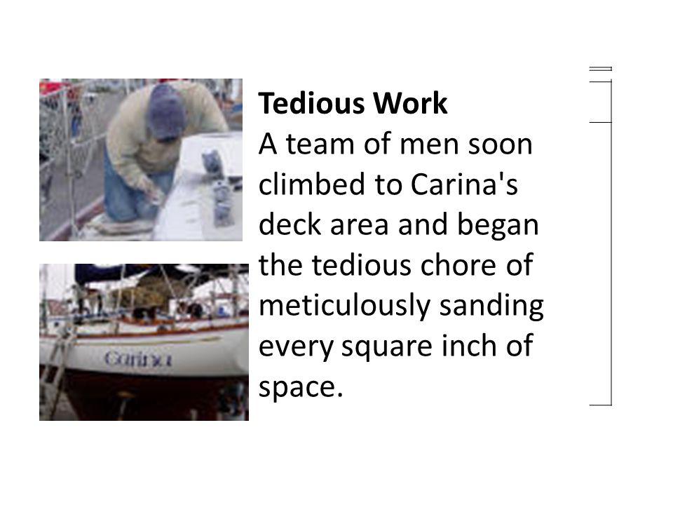 TEDIOUS-- adjective Long and boring