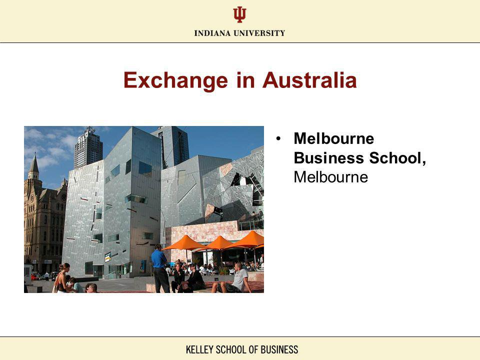 Exchange in Australia Melbourne Business School, Melbourne
