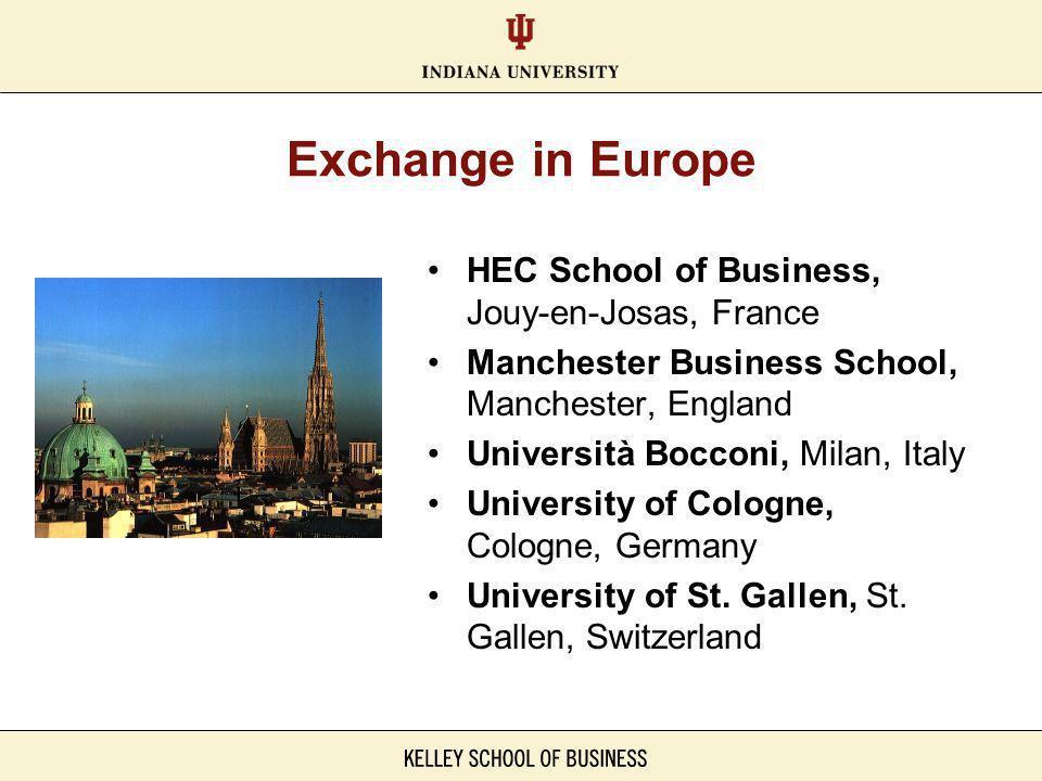 Exchange in South America Fundacao Getulio Vargas (FGV), São Paolo, Brazil Pontificia Universidad Católica de Chile, Santiago, Chile Universidad ESAN, Lima, Peru