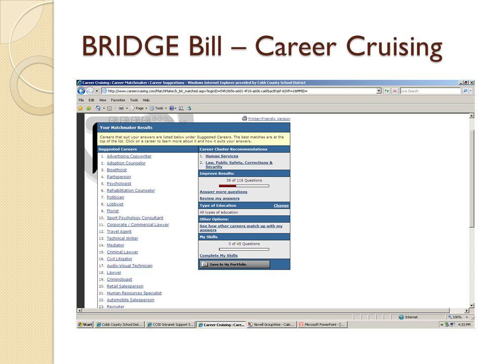 BRIDGE Bill – Parent Handout Career Matchmaker