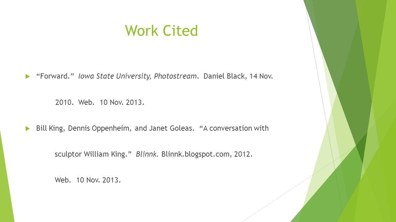 Work Cited Forward.Iowa State University, Photostream.