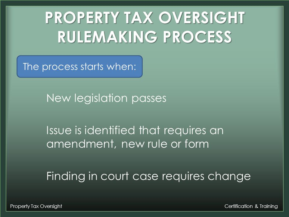 Property Tax Oversight Certification & Training Examples of Changes We Could Not Accept Tax Collector Suggestion When the tax collector sells multiple items of property...