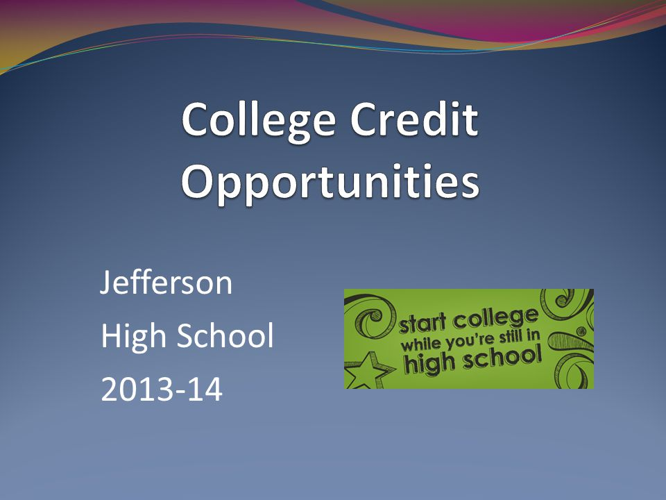 Jefferson High School 2013-14