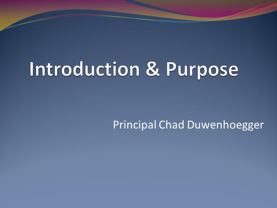 Principal Chad Duwenhoegger