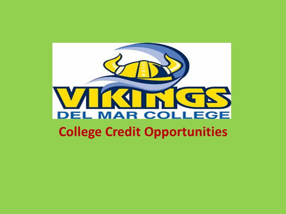 Del Mar College College Credit Opportunities