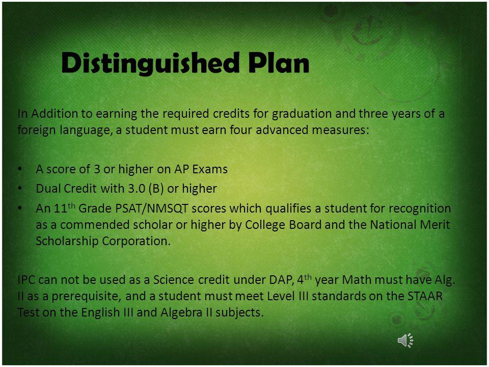 Graduation Requirements 4 credits English 4 credits Math 4 credits Science 4 credits Social Studies 2 credits LOTE 1 credit PE/Athletics 1 credit Fine