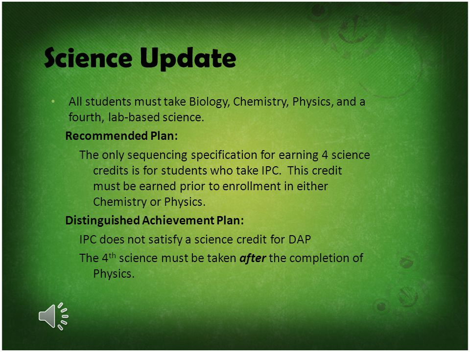 Math Update All students must take Algebra 1, Geometry, Algebra 2, and a fourth approved math credit. The fourth math credit: If selected, MMA credit