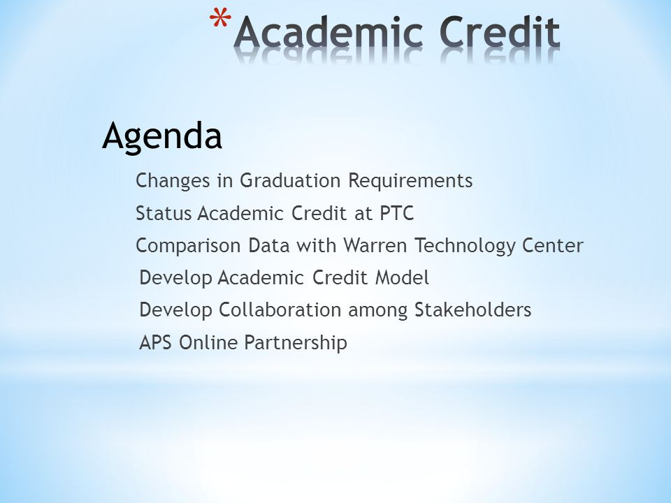 Part II.Process for Assigning Academic Credit in CTE 2.