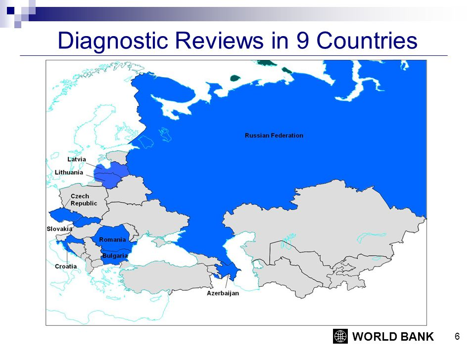 WORLD BANK 6 Diagnostic Reviews in 9 Countries
