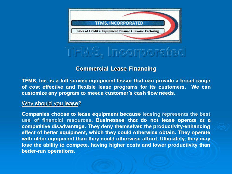 Commercial Lease Financing TFMS, Inc.