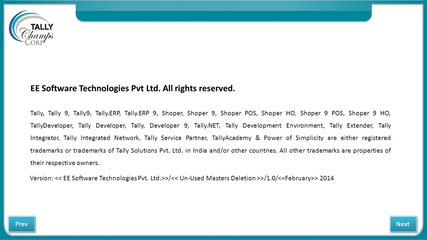 EE Software Technologies Pvt Ltd. All rights reserved.