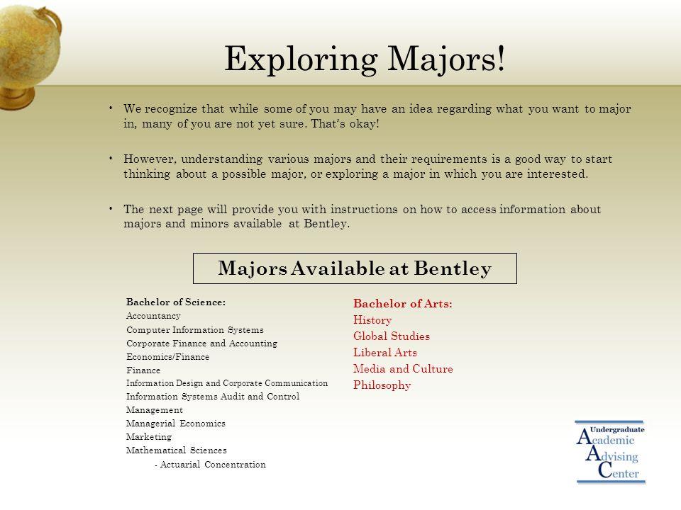 Exploring Majors.