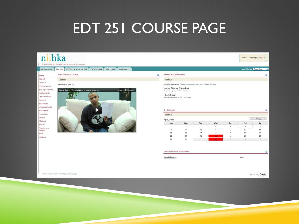 EDT 251 COURSE PAGE