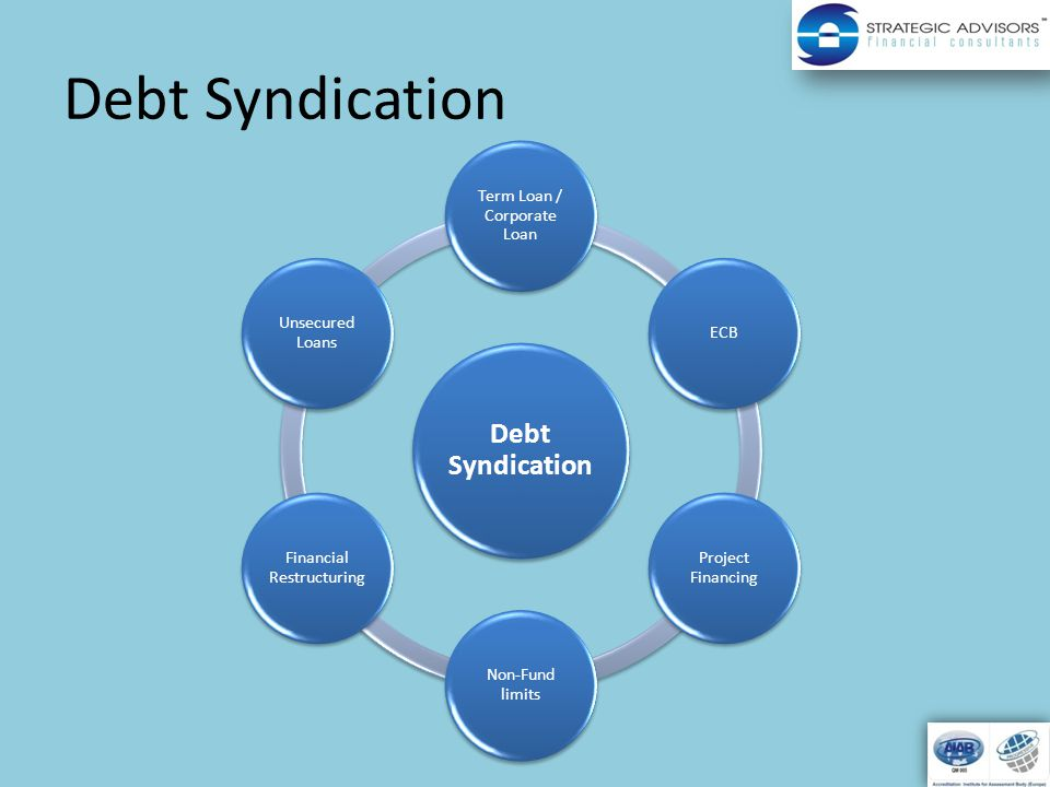 Debt Syndication Term Loan / Corporate Loan ECB Project Financing Non-Fund limits Financial Restructuring Unsecured Loans