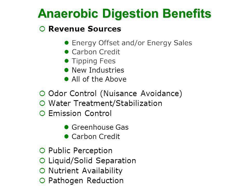 Anaerobic Digestion Benefits