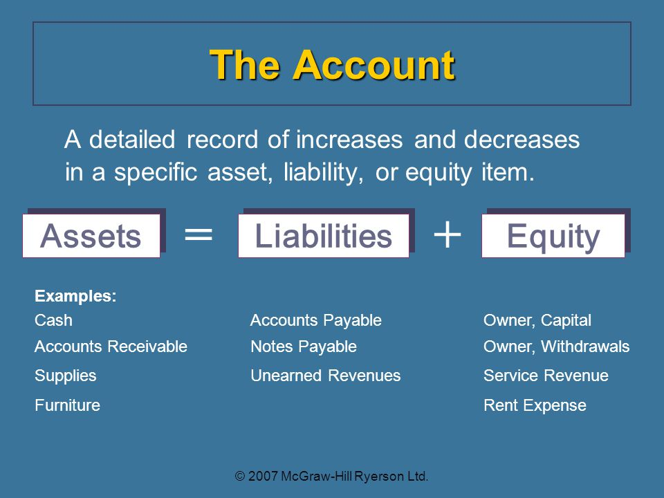 A detailed record of increases and decreases in a specific asset, liability, or equity item.