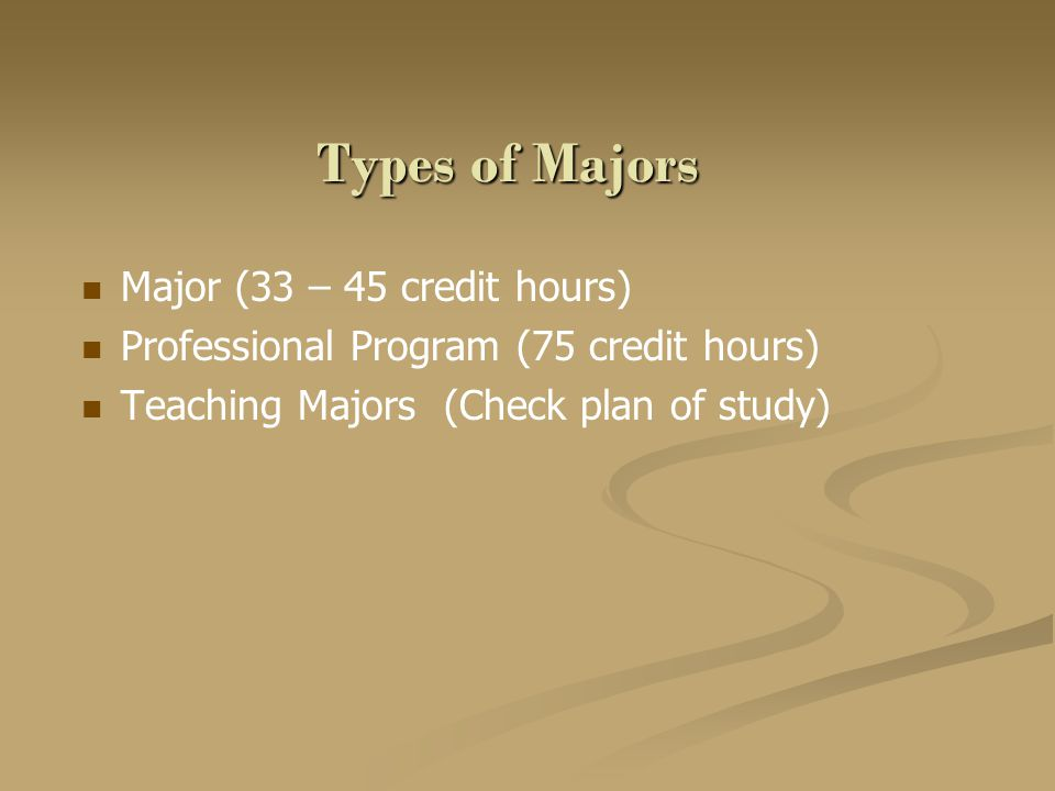 Minors Optional with most majors Wide Variety – Can be a Liberal Arts minor or minor outside of Liberal Arts – See Liberal Arts website Liberal Arts website Minors range from 12 to 19 credit hours