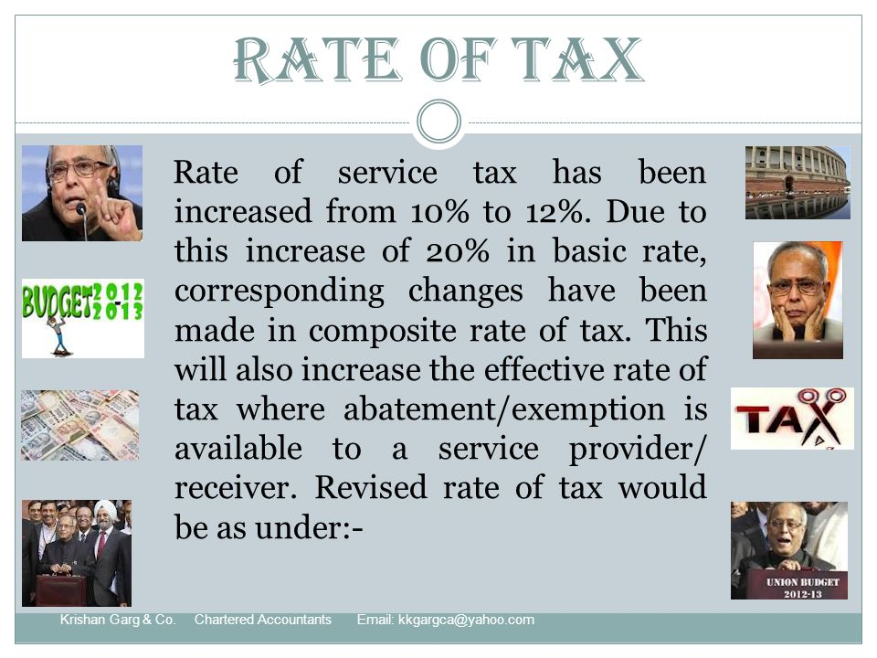 Rate of Tax Krishan Garg & Co.