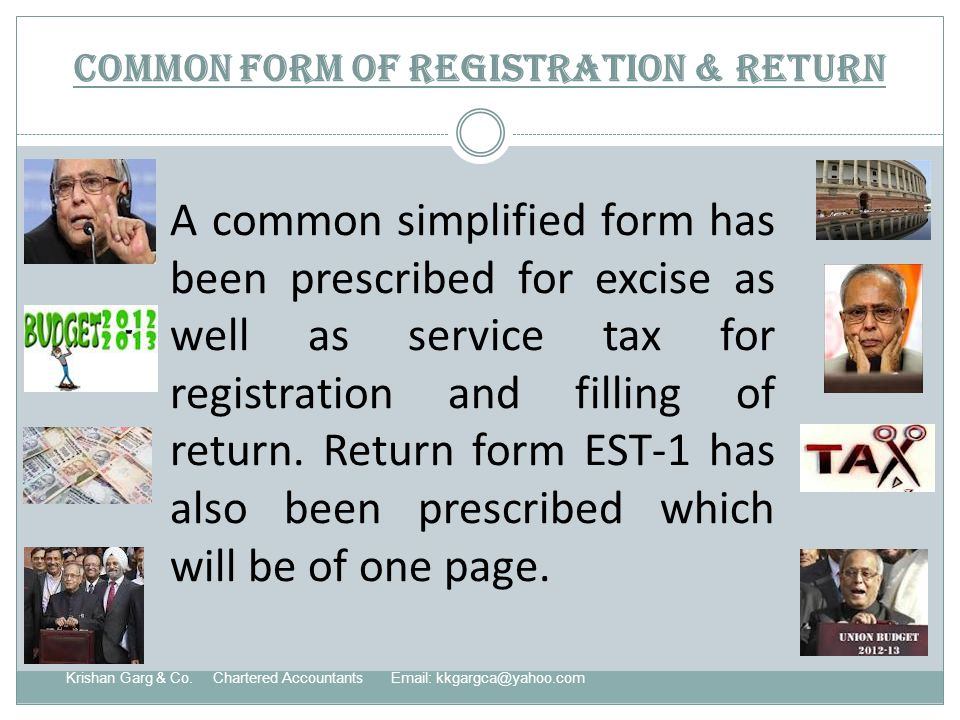 Common form of registration & return Krishan Garg & Co.