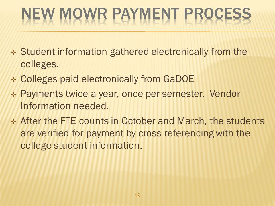 Student information gathered electronically from the colleges.