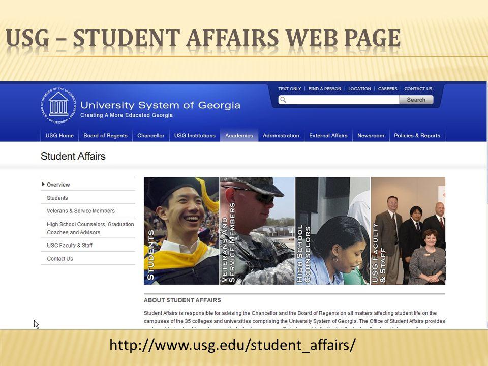 http://www.usg.edu/student_affairs/