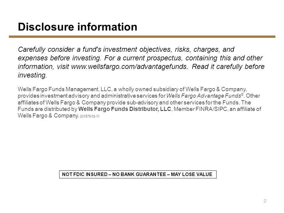 Disclosure information Carefully consider a fund s investment objectives, risks, charges, and expenses before investing.
