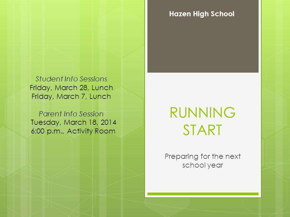 What is Running Start.