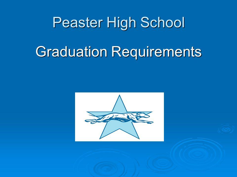 Peaster High School Graduation Requirements