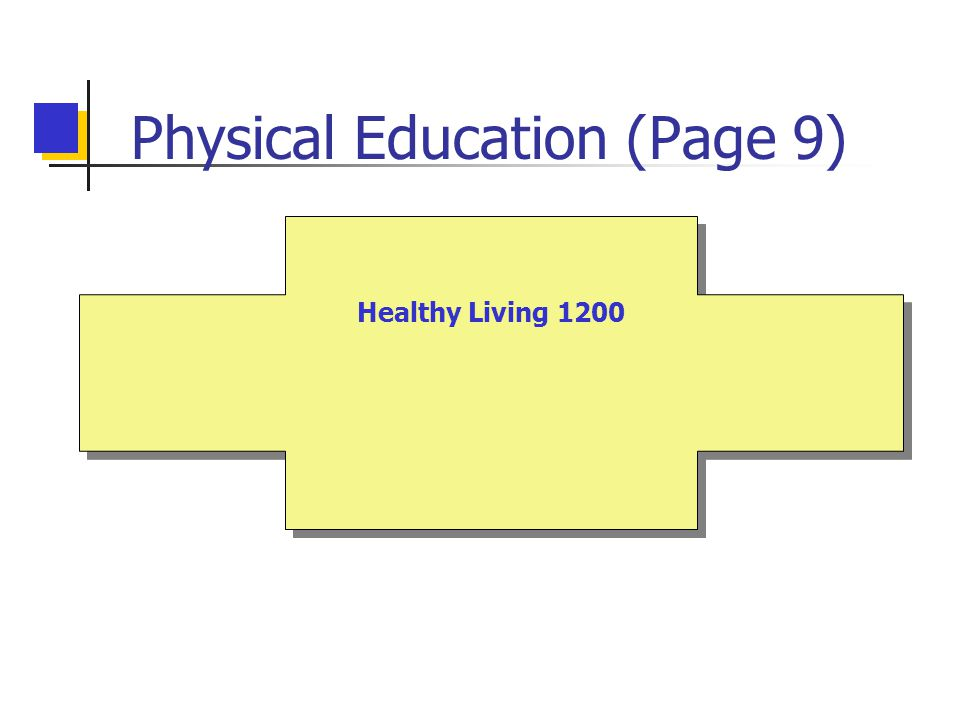 Physical Education (Page 9) Healthy Living 1200