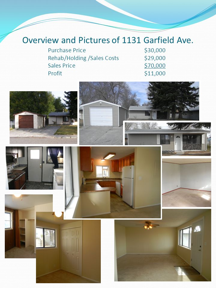 Overview and Pictures of 1131 Garfield Ave.