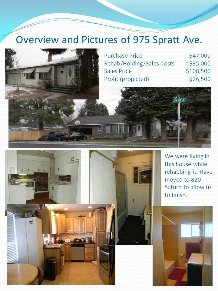 Overview and Pictures of 975 Spratt Ave.