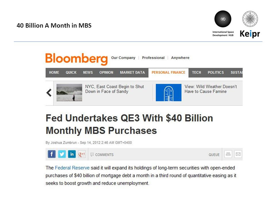 40 Billion A Month in MBS