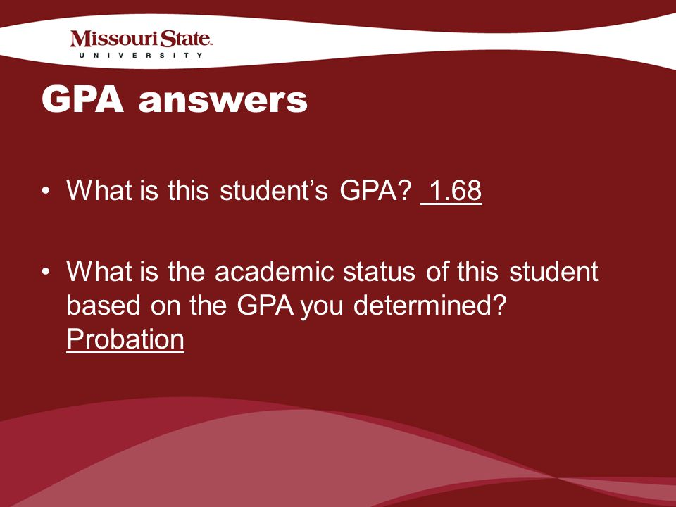 4/6/201020Office/Department || GPA answers What is this students GPA.