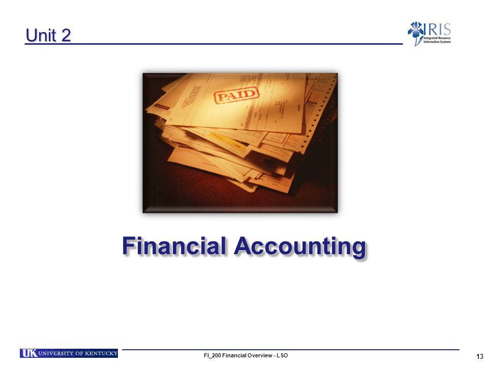 13 Unit 2 Financial Accounting