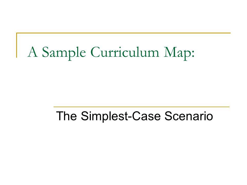 A Sample Curriculum Map: The Simplest-Case Scenario