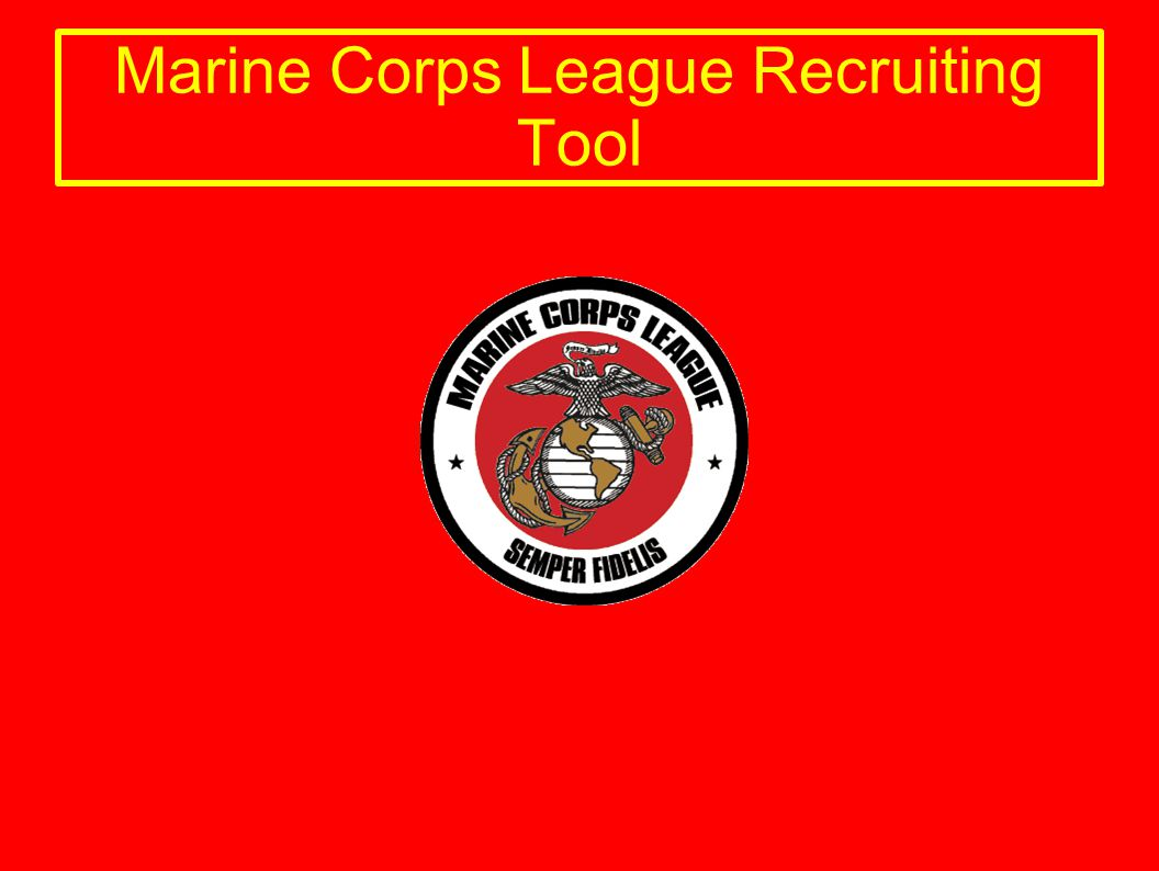 Marine Corps League A Congressionally Chartered Veterans Organization Contributions are tax deductible as a 501(c)(4) Veterans Organization.