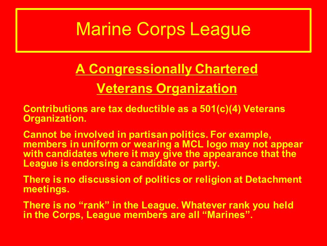 Marine Corps League IV. Youth of America