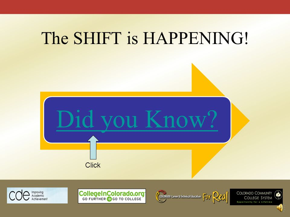 The SHIFT is HAPPENING! Did you Know? Click