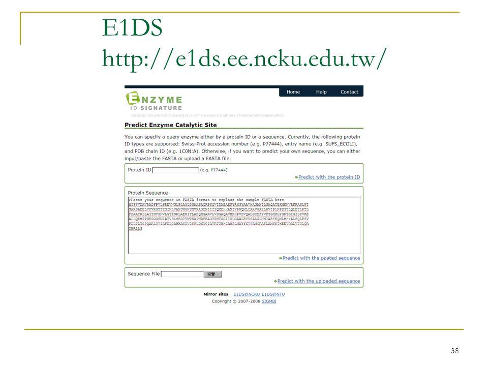 38 E1DS http://e1ds.ee.ncku.edu.tw/