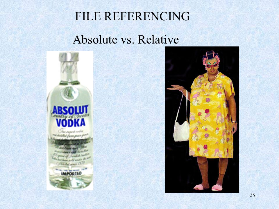 25 FILE REFERENCING Absolute vs. Relative