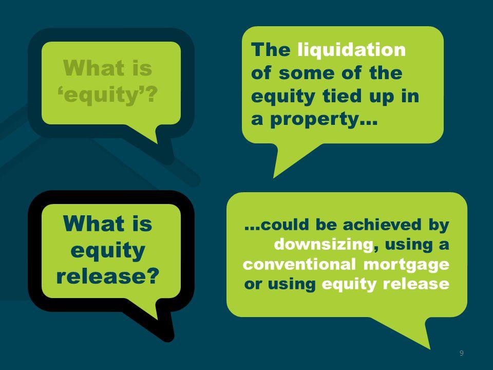 Source: UK Equity Release Market Monitor – Quarter 3 2012 | Key Retirement Solutions 10 ER1 revision C1 | Introduction to Equity Release Why release equity.