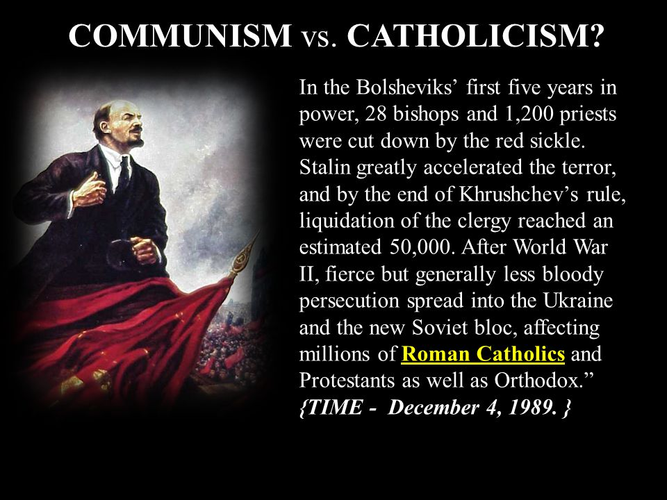 In the Bolsheviks first five years in power, 28 bishops and 1,200 priests were cut down by the red sickle. Stalin greatly accelerated the terror, and
