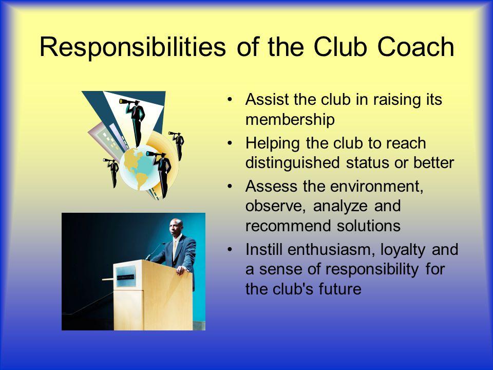 Why be a Club Coach.