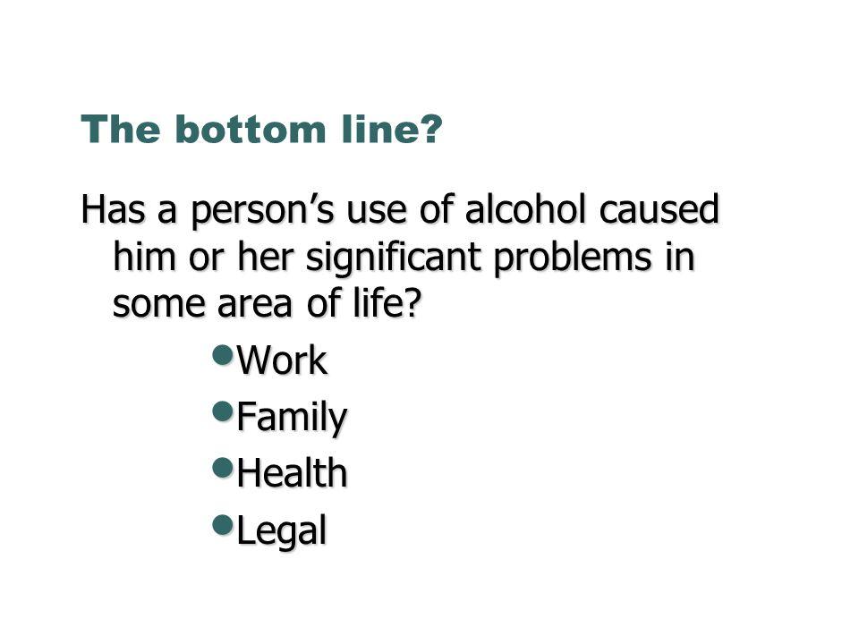 The bottom line.